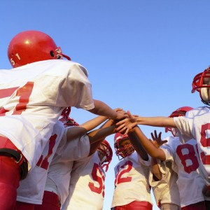 Team Huddle Before the Game