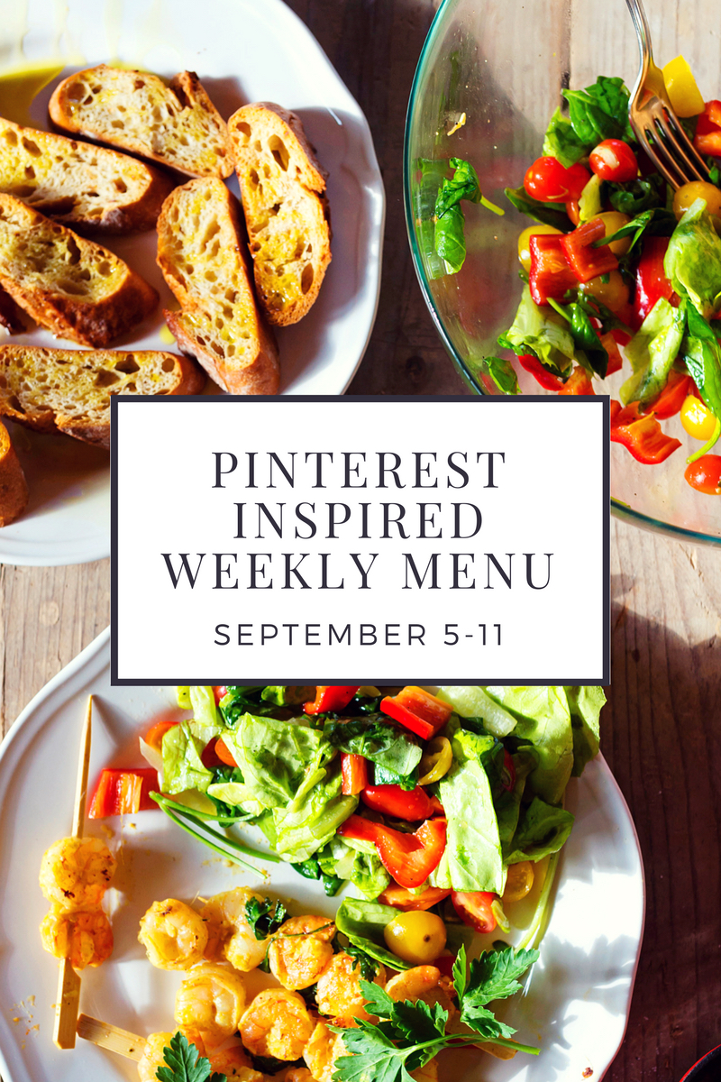 September 5-11 Pinterest Inspired Weekly Menu