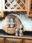 Initial Bourbon Barrel Head